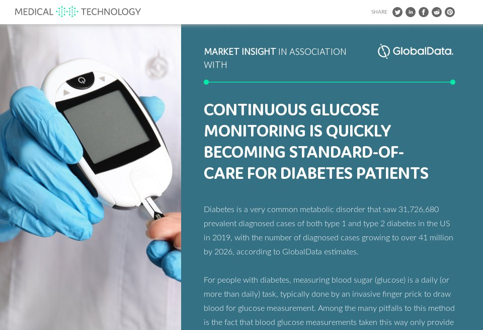 Continuous glucose monitoring is quickly becoming standard
